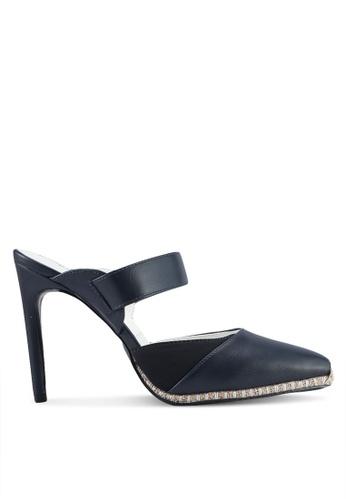 Something Borrowed 海軍藍色 Slip On Stitched Heel 26CC9SH5647E60GS_1