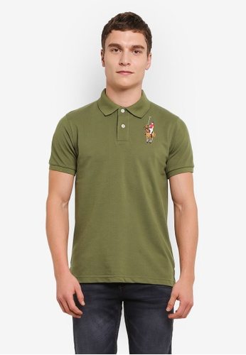MILANO green Embroidered Polo Shirt MI248AA0S1NBMY_1