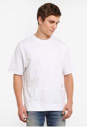 Calvin Klein white Hucks Oversized Knit T-Shirt - Calvin Klein Jeans CA221AA0SA53MY_1