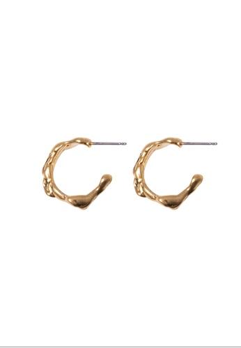 SKEDA gold Betty Gold Hoop Earrings AA8D3AC1B28DF9GS_1