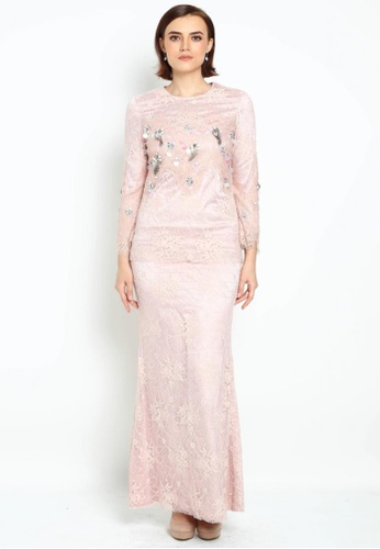 Owl By Nora Danish - Adore By Owloveraya Modern Kurung from OWLBYND in Pink