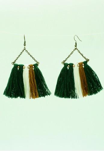 JOGLO AYU TENAN green JOGLO AYU TENAN Green Tassel Earrings 3803BAC058CF66GS_1