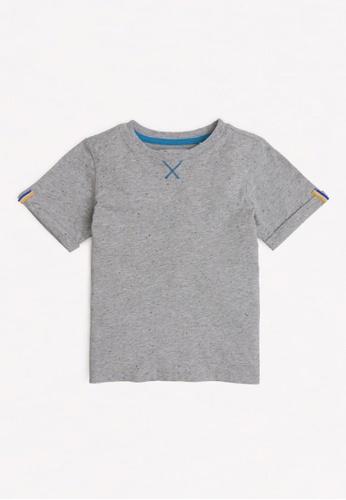 Gingersnaps grey Boys Fold-Up Sleeves T-Shirt 5FC8CKAA844281GS_1