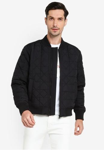 Calvin Klein black Ad-Padded Bomber Jacket - Calvin Klein Jeans 191F6AA51C74F7GS_1