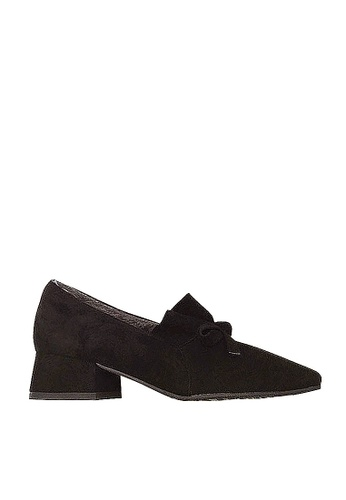 Twenty Eight Shoes black Ruffles and Bow Mid Heels VL56813 2DB64SH5AACA69GS_1
