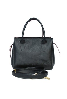 Francine Black Tote Bag