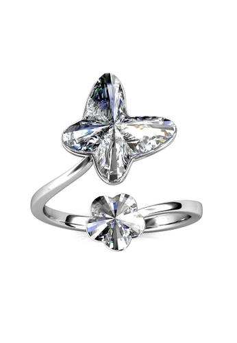 Her Jewellery silver Crystal Park Ring-  Embellished with Crystals from Swarovski® D49B3AC1C52E8FGS_1