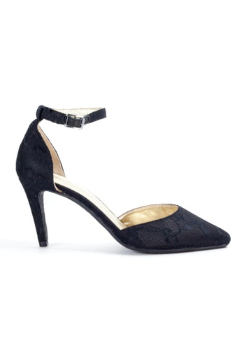 Shu Talk 黑色 LeccaLecca 氣質優雅尖頭高跟鞋 463ACSH224B254GS_1