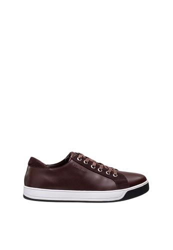 SEMBONIA brown Men Leather Sneaker B7282SHCCA859CGS_1