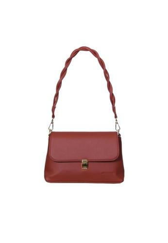 Verchini red Verchini Twist Top Handle Bag C84F4AC44D1145GS_1