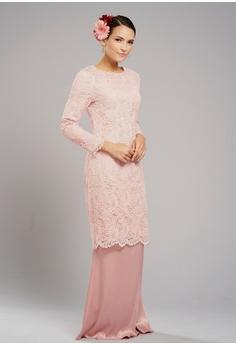 bc80ad323a74 Loveaisyah pink Paisley Lace Baju Kurung CD0C5AA5859EFDGS_1