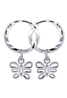 Butterfly Loop Dangling Earrings
