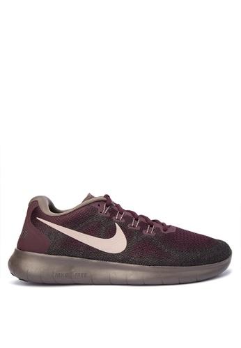 Nike red Men's Nike Free RN 2017 Running Shoes NI126SH0KPS9PH_1