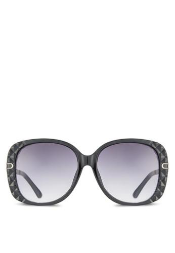 NUesprit 香港VEAU 金屬邊紋理方框太陽眼鏡, 飾品配件, 飾品配件