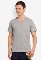 2GO grey Half Sleeve V-Neck T-Shirt 2G729AA0S5Z5MY_1