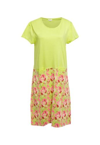 Puppy green Dress Daster Print Rose Pattern Sleepwear 73656AA89A281DGS_1