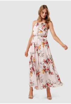Lydia Eyelet Detail Maxi Dress