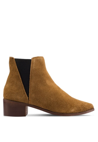 MISSGUIDED brown Real Suede Chelsea Boots 30E21SHF938326GS_1
