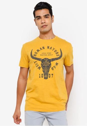Springfield gold Skull T-Shirt BD6C9AABFC1368GS_1