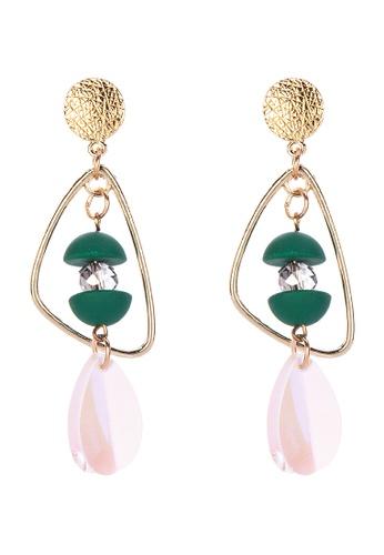 Pink Tequila green Statement Earrings B1724ACC2FFF6EGS_1