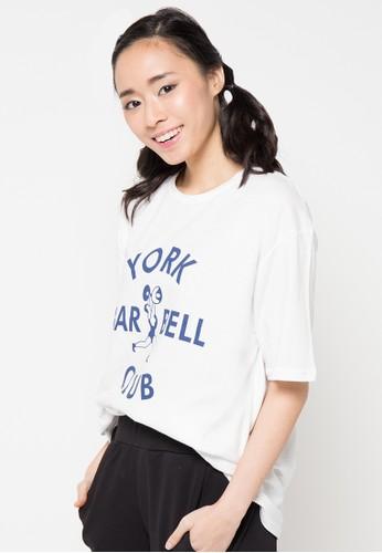 Envy Look white Bar Bell T-Shirt EN694AA01CTIID_1