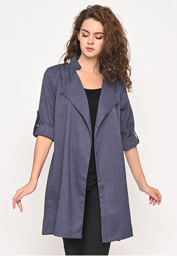 Mannequin blue Long Stripe blazer 66878AA00D6488GS_1