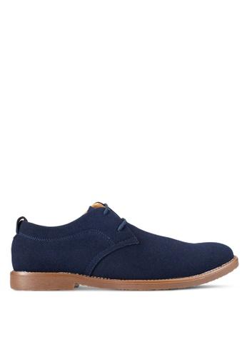 UniqTee blue Suede Derby Shoes UN097SH0RFVPMY_1