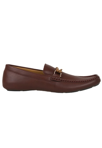 Tomaz brown Tomaz Rolo Braided Buckle Loafers CA215SH874C2CEGS_1