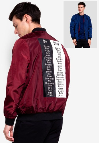 UniqTee red Reversible Lightweight Bomber Jacket AAD3AAAA1D1230GS_1