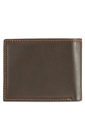 Volkswagen brown Volkswagen Genuine Leather Bi-Fold Wallet VO089AC14EJDMY_1