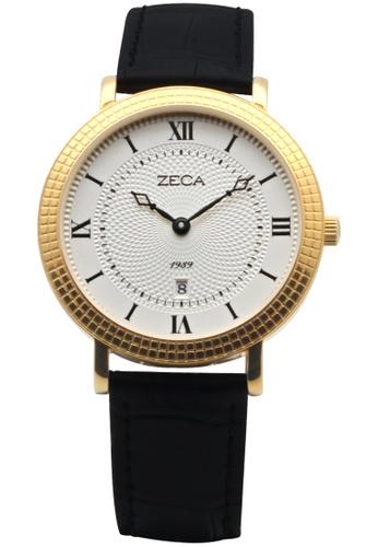 ZECA black and white and gold Zeca Watches Couple Ladies Fashion - 333L Black Gold ZE260AC72SLJSG_1
