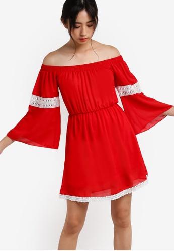 Pink Evil's Fashion Supermarket red Vienna Tunic Dress PI908AA71QOEMY_1