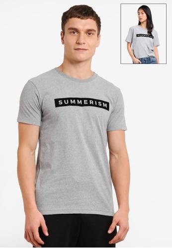 Summerism grey Summerism Box Tee - Grey 46B70AA4795D35GS_1