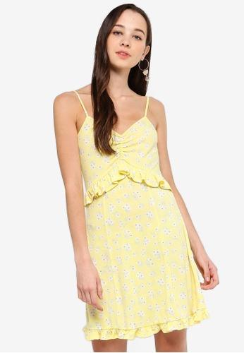 Something Borrowed 黃色 Frill Cami Knit Dress 2F314AA5515B80GS_1