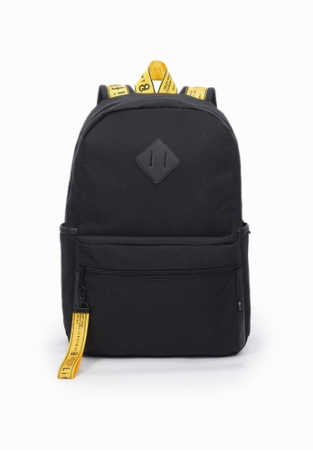 Life8 black Casual Color Contrast Backpack-06447-Black 7266BAC07E16BCGS_1
