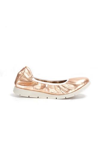 Shu Talk 金色 DARKWOOD 超舒適芭蕾舞有跟鞋 A35CCSH48EEAD0GS_1
