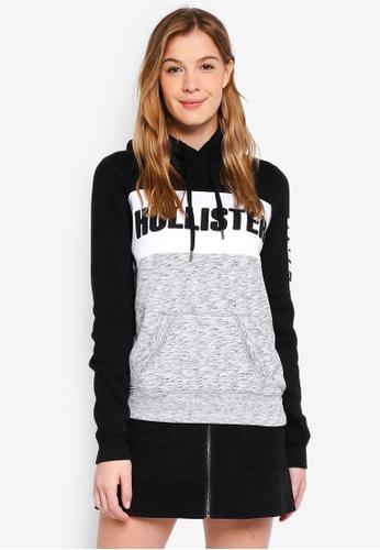 Hollister black Tech Core Logo Po Street Hoodie 12595AA6A48E94GS_1