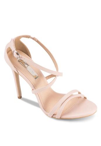 Gardesprit高雄門市enia 雙帶交叉踝帶高跟涼鞋, 女鞋, 鞋