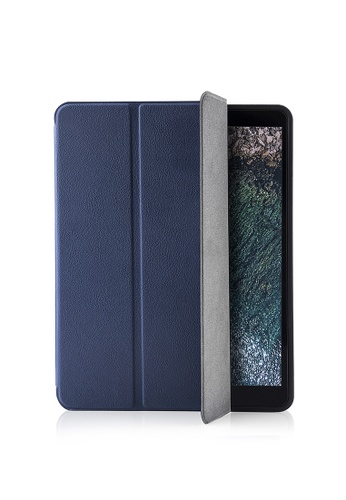 tomtoc blue tomtoc ipad Pro 10.5 Smart Case with Apple Pencil Holder, Slim All-Around Protective Case For 2017 Apple 10.5 Inch New ipad Pro Stand Cover 11BFCAC0ED87DFGS_1