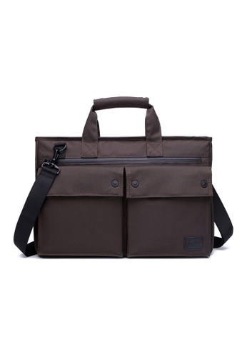 The Dude brown Smasher Briefcase TH373AC24URVHK_1
