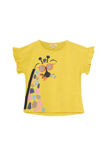 Du Pareil Au Même (DPAM) yellow Print T-shirt D733AKAFC25783GS_1