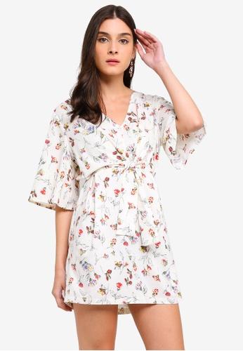 b736bfc2d Shop ZALORA Self Tie Kimono Dress Online on ZALORA Philippines