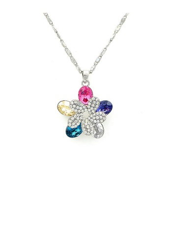 Glamorousky multi Enchanting Flower Pendant with Multi-colour Austrian Element Crystals 09ECCAC1C210AFGS_1
