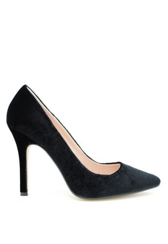 PRODUIT PARFAIT 黑色 天鵝絨高跟鞋 D3BA5SH81C9487GS_1
