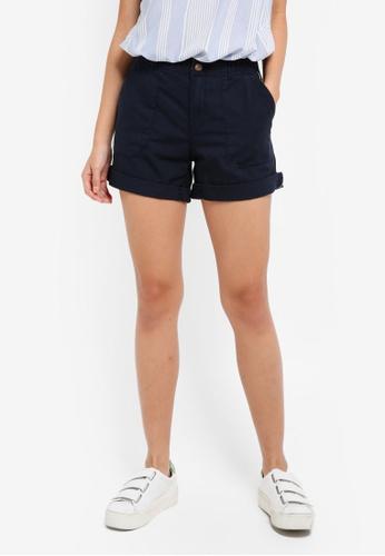 ESPRIT navy Woven Regular Shorts 3B7A0AAD224DF8GS_1