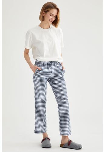 DeFacto blue Woman Homewear Woven Bottoms 8296FAA13BD7A6GS_1