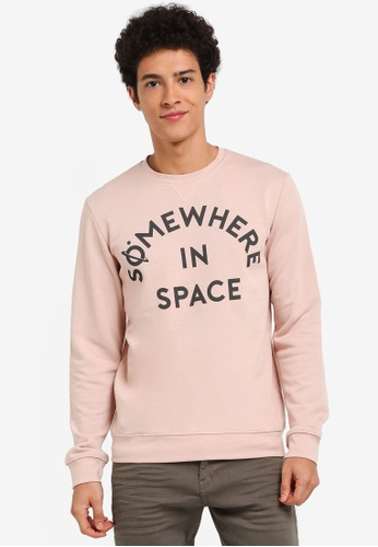 ESPRIT pink Long Sleeve Sweatshirt 5D3A1AA1D1210AGS_1