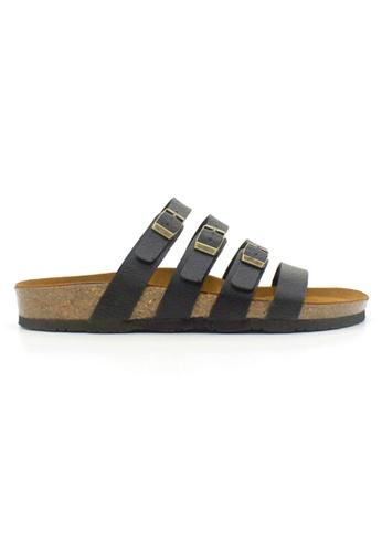 SoleSimple 黑色 Kingston - 黑色 百搭/搭帶 全皮軟木涼鞋 F6DE3SH93C4F29GS_1