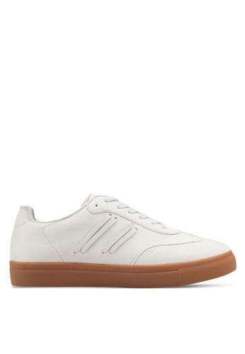 ZALORA grey Side Stitching Detail Sneakers E0212SHFBF0F5AGS_1
