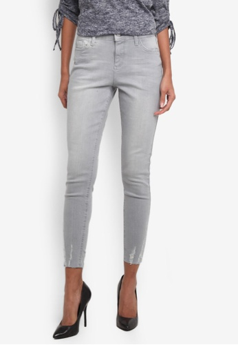 Dorothy Perkins grey Ice Grey Darcy Ankle Grazer Jeans DO816AA0RP4TMY_1